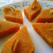 Semolina and Chickpea Flour Halva with Almonds and Saffron