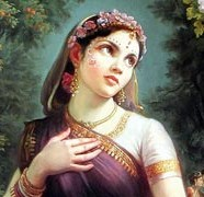 Srimati Radharani and Pastime