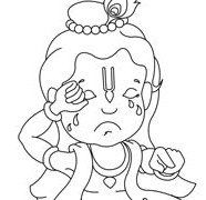Crying Krishna