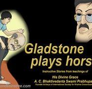 Gladstone Plays Horse