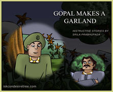 Gopal makes a garland