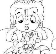 Krishna Eating Laddu