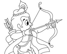 Krishna Playing With Bow And Arrow