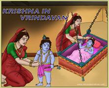 Krishna In Vrindavana Comics