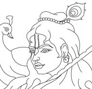 Lord Krishna Face
