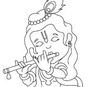 Lord Krishna Playing The Flute
