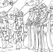 Lord Krishna With The Wives Of The Brahmanas