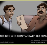 The Boy Who Did Not Answer His Exam