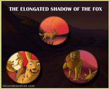The Elongated Shadow Of The Fox