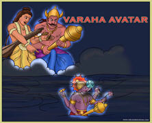Appearance of Varaha Deva The Boar Incarnation