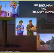 Washer Man And The Lazy Donkey