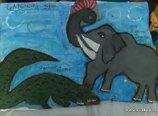 Elephant devotee Gajendra