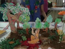 Hanumanji offering the ring of Lord Rama to mother Sita