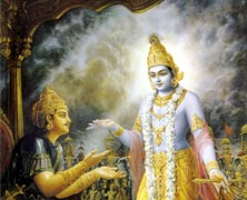 Arjuna Visits Lord Vishnu
