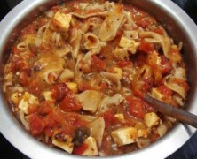 Homemade Noodles in Tomato Sauce