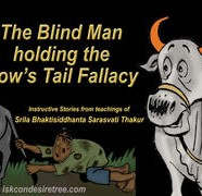 Blind Man Holding Cow Tail