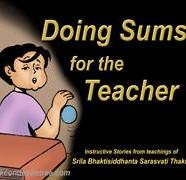 Doing Sums For Teacher