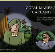 Gopal makes a garland