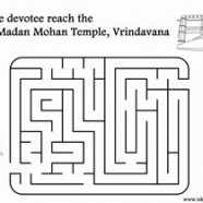 Help The Devotee Reach The Radha Madan Mohan Temple, Vrindavana
