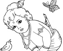 Coloring Pages Of Lord Krishna  Coloring Pages Ideas  Reviews
