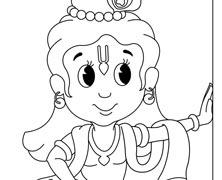 Krishna leaning on wall