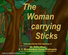 Lady Carrying Stick