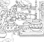 Lord Krishna Asking For Butter