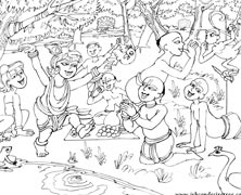 Lord Krishna Enjoying With His Friends