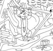 Lord Krishna Killing Bakasura