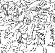 Lord Krishna Swallowing Fire