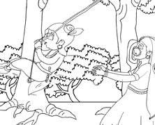 Lord Krishna Swinging