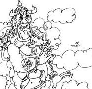 Lord Krishna With Trinavrta