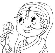 Radha Thinking About Krishna