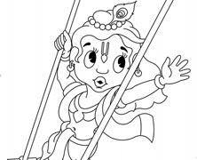 Swinging Lord Krishna