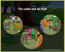 The Sadhu And The Ram Fight