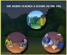 The Heron Teaches A Lesson To The Fox