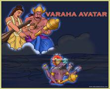 Appearance of Varaha Deva The Boar Incarnation