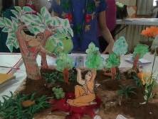 Hanumanji offering the ring of Lord Rama to mother Sita