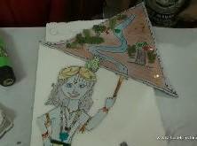 Krishna lifts the Govardhan hill