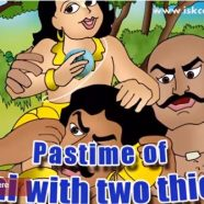 Pastime of little Nimai with two thieves