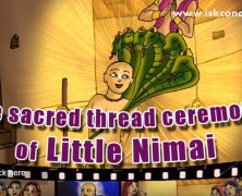 The sacred thread ceremony of little Nimai